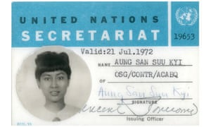 Aung San Suu Kyi's United Nations Identity Card issued in July 1972