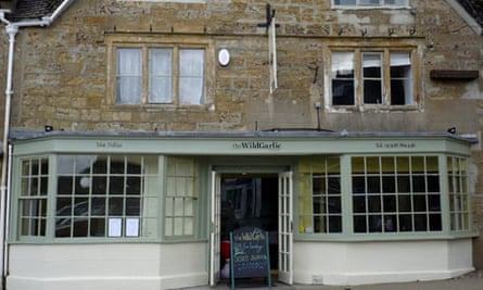 The exterior of The Wild Garlic restaurant