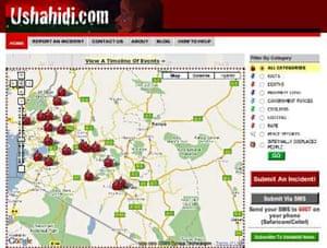 Ushahidi Kenyan election violence project