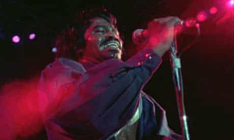 Singer James Brown in the film Soul Power