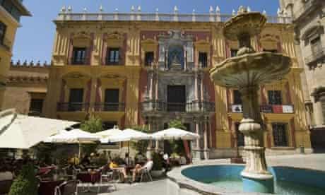 Plaza del Obispo in Malaga, Spain