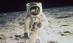 Apollo 11 astronaut Buzz Aldrin stands on moon