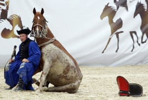 24 hours in pictures: A traditional Hungarian horseman performs in Budapest