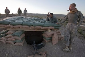 Sean Smith Afghanistan: Soldiers from Blackfoot Company man an observation post