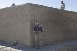 Sean Smith Afghanistan: A soldier in Hajji Janshah while on a three day patrol from FOB Waza Kwah