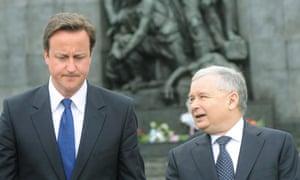 David Cameron, Jaroslaw Kaczynski