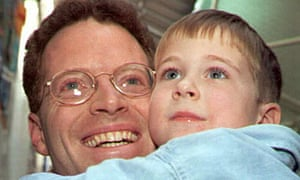 David Rohde with his nephew Steven in 1995