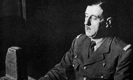 General Charles de Gaulle, the future leader of th