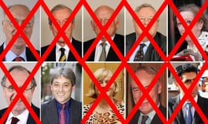 The 10 MPs who were standing for Speaker - showing John Bercow as winner