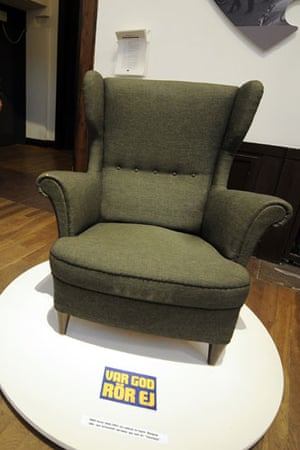 Ikea: A green armchair, designed in the 50s