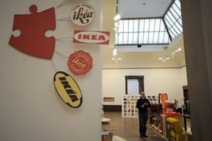 Ikea: A visitor looks at the exhibition