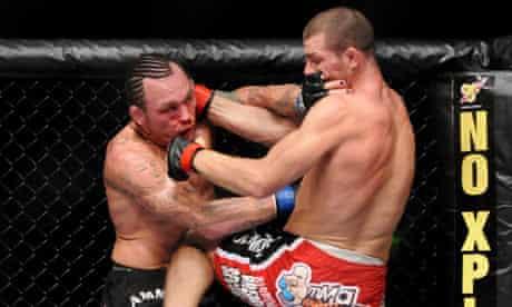 Mixed Martial Arts: (l-r) Chris Leben vs Michael Bisping