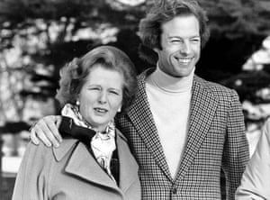 Margaret Thatcher: 1982: Together at Chequers. Mrs Thatcher with her son Mark