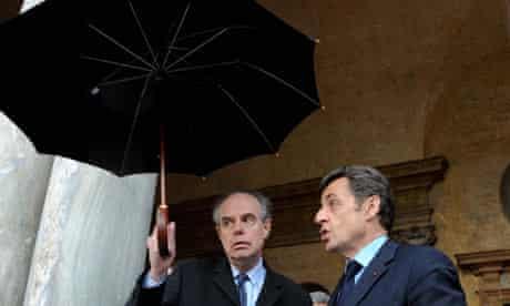 Frédéric Mitterrand with the president, Nicolas Sarkozy