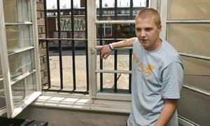 Michael Shields in prison in the city of Varna, Bulgaria, 2005