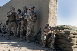 Sean Smith Black Watch: Soldiers from The Black Watch arriving at what will be FOB Wahid