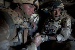 Sean Smith Black Watch: 21 June 2009: Soldiers from B company of Black Watch in a Viking APC