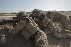 Sean Smith Black Watch: Soldiers provide cover while others clear IEDs Helmand Province Afghanistan