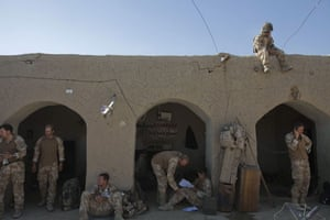 Sean Smith Black Watch: 21 June 2009: Soldiers from A Company in the bazaar near FOB Wahid