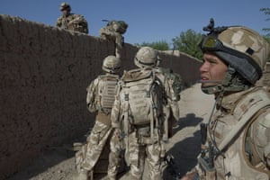Sean Smith Black Watch: Soldiers with B company of the Black Watch on an eight hour patrol