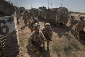 Sean Smith Black Watch: Soldiers with B company of the Black Watch going on patrol from FOB Wahid