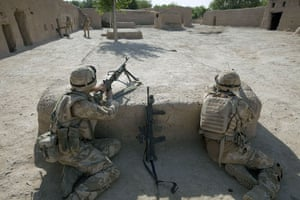 Sean Smith Black Watch: Soldiers search compounds they had been getting fired at from
