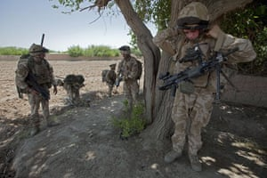Sean Smith Black Watch: Soldiers on an eight hour patrol from the FOB to search compounds