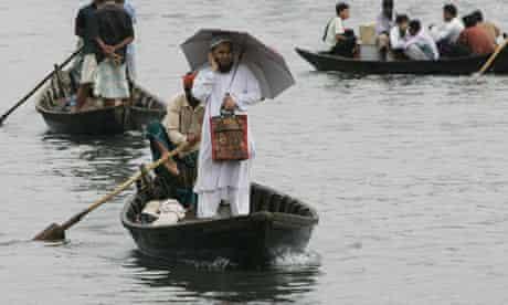 Bangladeshi man on phone
