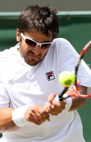 Wimbledon fashion: Janko Tipsarevic plays at Wimbledon 2009