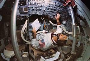 Apollo 11: Michael Collins in Apollo Mission Simulator