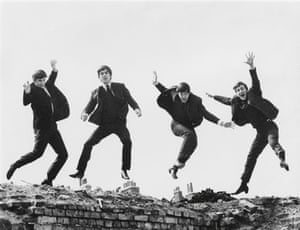 NPG Beatles to Bowie: The Beatles, 1963 (jumping shot) By Fiona Adams