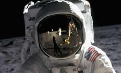 Apollo 11 astronaut Buzz Aldrin Walking on the Moon