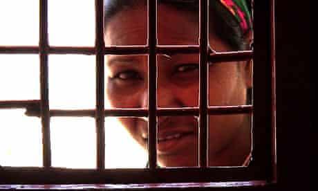 Female prisoner in Afghan women's prison NATO built