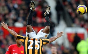 Barclays Sport Photos: Patrice Evra goes over the top of Daniel Cousin