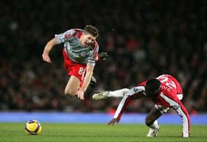 Barclays Sport Photos: Steven Gerrard and Johan Djorou