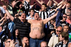 Barclays Sport Photos: Newcastle fans keep singing after their defeat meant relegation