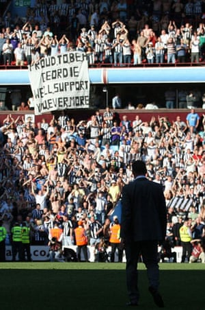Barclays Sport Photos: Newcastle fans show their support for manager Alan Shearer