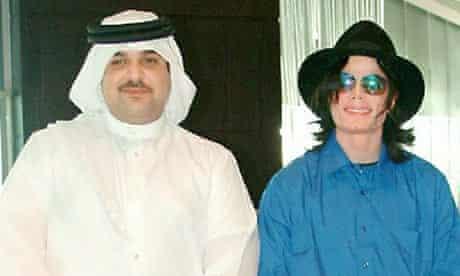 Michael Jackson with Abdullah bin Hamad Al Khalifa