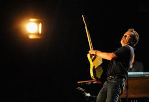 Bruce Springsteen: Bruce Springsteen performs on the Pyramid Stage