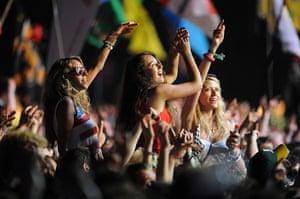 Bruce Springsteen: Festivalgoers enjoy the performance