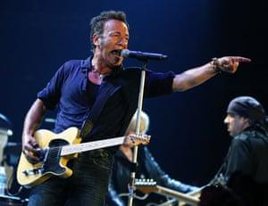 Bruce Springsteen: Bruce Springsteen performs at the Glastonbury Festival