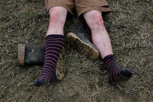 Glastonbury Day 3: Martin Godwin Glastonbury Day 3 wellies