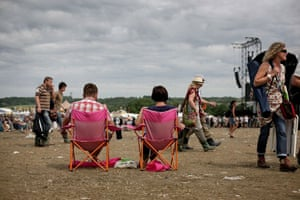 Glastonbury Day 4: Glastonbury festival: Day four deckchairs