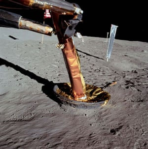 Apollo 11 to Moon: Lunar module starboard footpad and contact probe