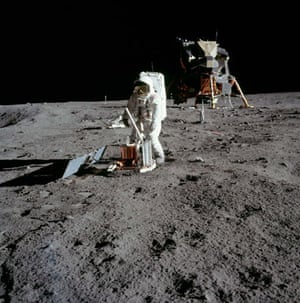 Apollo 11 to Moon: Astronaut Buzz Aldrin assembles seismic experiment