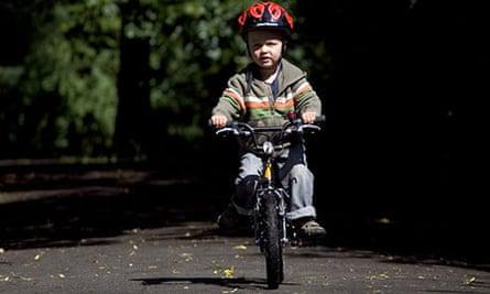Bike blog: James Sturcke teaching his son to ride
