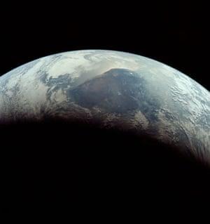 Top Ten Hoax Claims: Apollo 11 landing on moon: closeup of Earth