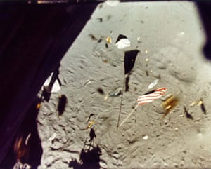 Top Ten Hoax Claims: Apollo 14 landing on moon: view from LM window during lunar liftoff