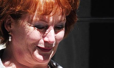 Former communities secretary Hazel Blears leaves Downing Street