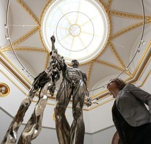 RA Summer Exhibition 2009: St.Bartholomew Exquisite Pain sculpture by Damien Hirst